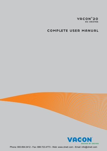Vacon 20 Compact AC Drive User Manual