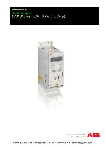 ABB ACS150 Inverter User's Manual
