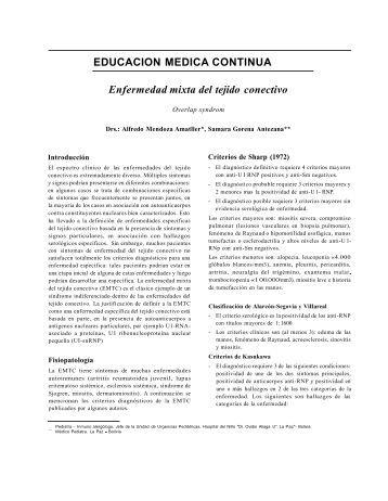 EDUCACION MEDICA CONTINUA Enfermedad mixta del tejido ...
