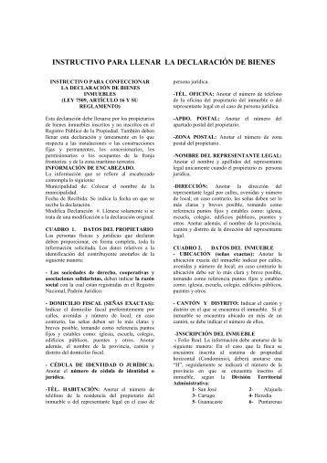 Instructivo para llenar el formulario d 116 autoliquidaci n for Registro de bienes muebles central