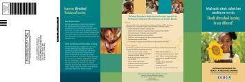 National Partnership brochure - SEDL