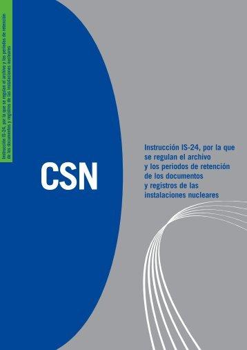 Instrucción IS-24, por la que se regulan el archivo y los periodos de ...