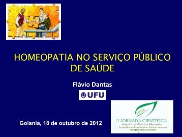 Homeopatia no serviço público de saúde - Sistema de ...