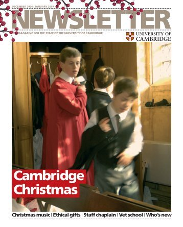 Cambridge Christmas - the University Offices - University of ...