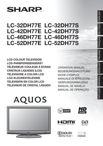 Sharp manuale tv
