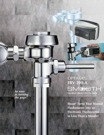 Optima EBV-200-A SMOOTH - Sloan Valve Company