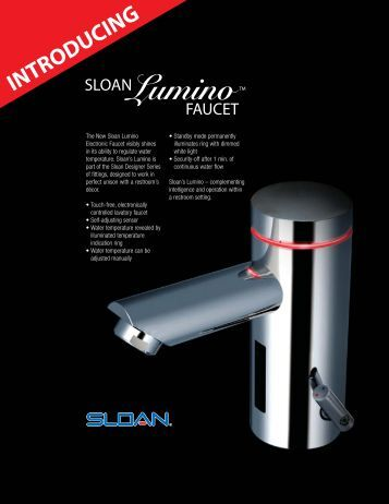 Introducing Sloan Lumino Faucet - Sloan Valve Company