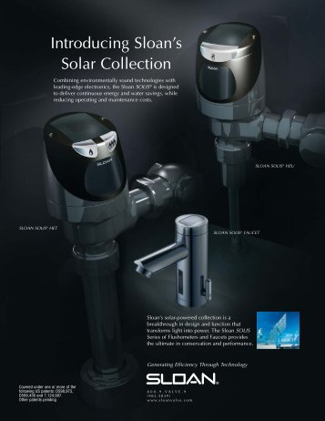 Introducing Sloan's Solar Collection - Sloan Valve Company