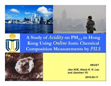 Estimation of In Situ pH on PM 2.5 in Hong Kong Using Online Ionic ...