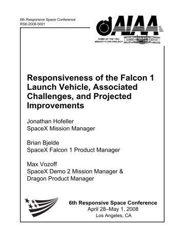 Responsiveness of the Falcon 1 Launch Vehicle, Associated ...