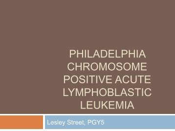 acute lymphoblastic leukemia philadelphia adult