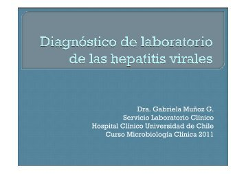 Diagnóstico de laboratorio de las Hepatitis virales