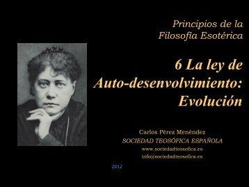 La Ley de Evolución - Sociedad Teosófica Española