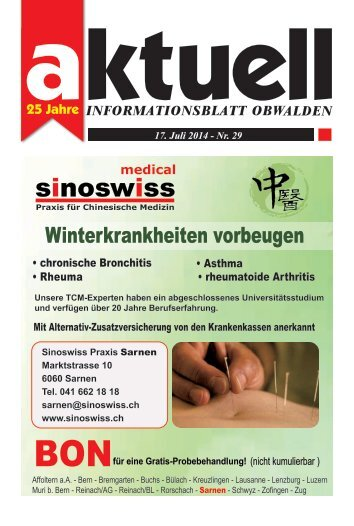 Aktuell Obwalden 29-2014