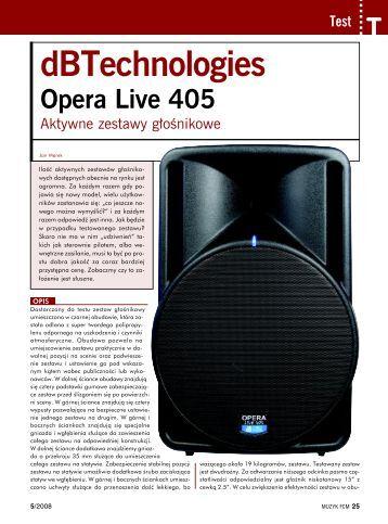 Test modelu Opera Live 405 - SOUND.PL