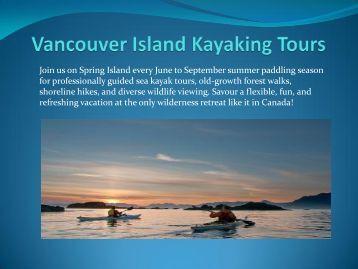 Vancouver Island Kayaking Tours