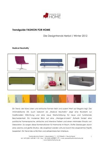 Trendguide FASHION FOR HOME FASHION FOR HOME Die ...