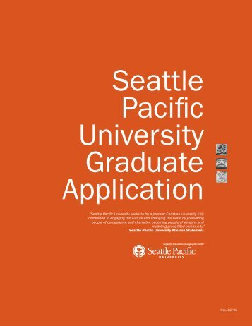 Hard copy application forms - Seattle Pacific University