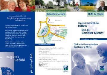 Faltblatt Diakonie-Sozialstation Sozialer Dienst - Diakonie Wolfsburg