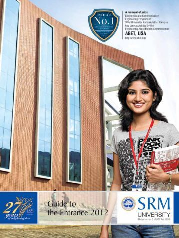 Guide to Entrance Exam - SRM University