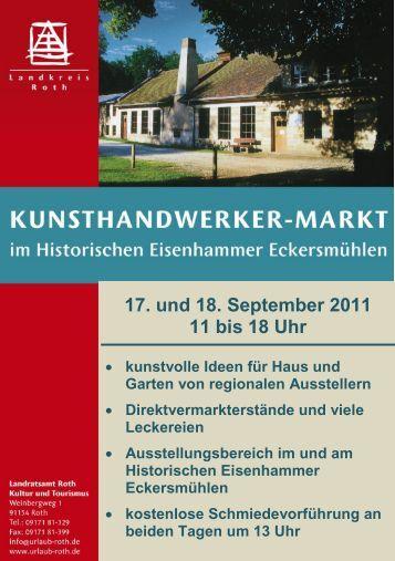 17. und 18. September 2011 11 bis 18 Uhr - Landratsamt Roth