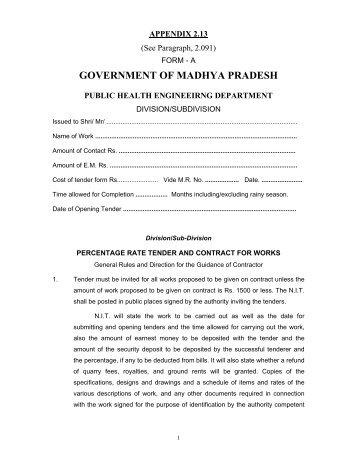 government of madhya pradesh - Madhya Pradesh Public Health ...