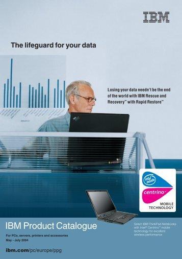 IBM Product Catalogue