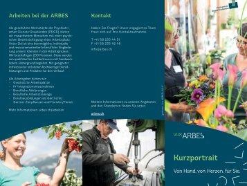 ARBES - die geschützte Werkstätte der Psychiatrischen Dienste Graubünden