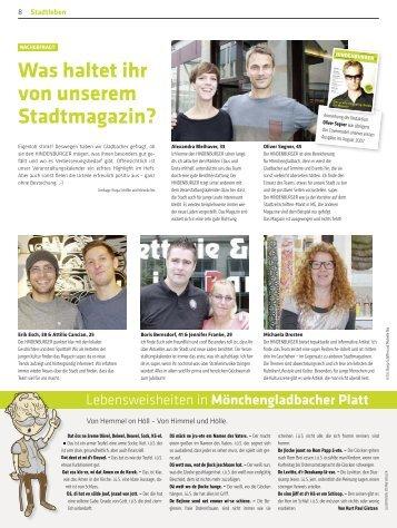 Was haltet ihr von unserem Stadtmagazin?
