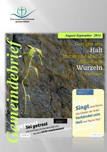 Gemeindebrief 2014 August September