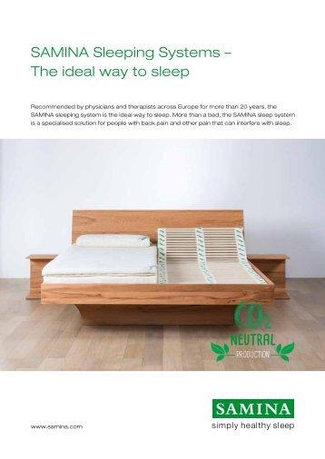 SAMINA Sleeping Systems – The ideal way to sleep