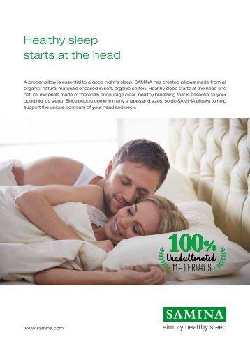 Healthy sleep starts at the head