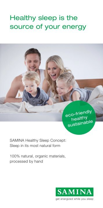 Everything for your healthy sleep