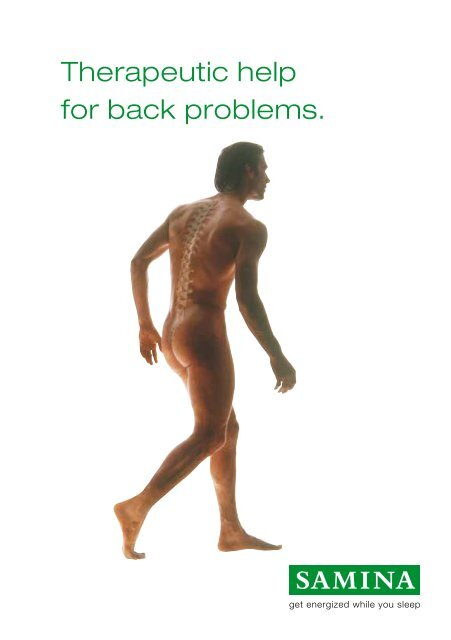 Therapeutic help for back problems.