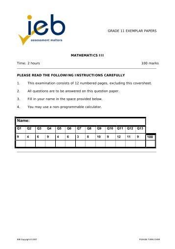 Grade 10 Question Papers/Memorandums - 2006