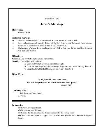 Jacob's Marriage - St. Marys Coptic Orthodox Church