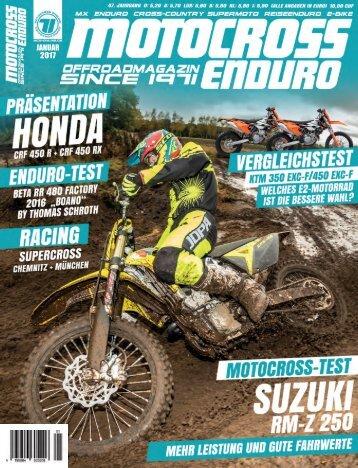 Motocross-Enduro Ausgabe 01/2017