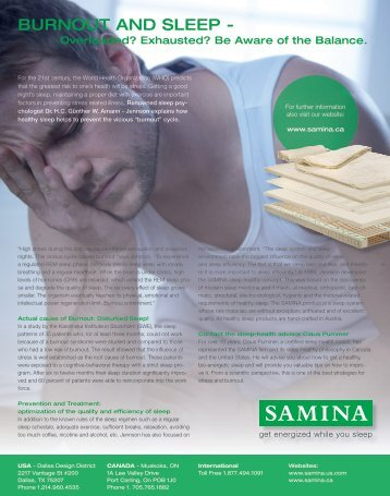 Burnout and Sleep - Overloaded? Exhausted? Be Aware of the Balance.