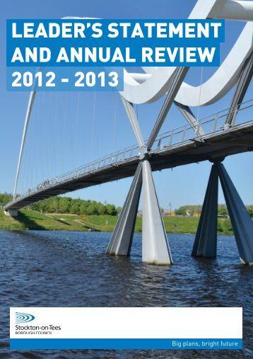 View Stockton Council Annual Review 2012- 2013 - Stockton-on ...