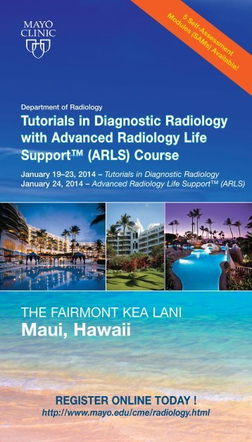 Tutorials in Diagnostic Radiology - Mayo Clinic