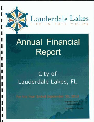 Lauderdale Lakes - Florida League of Cities