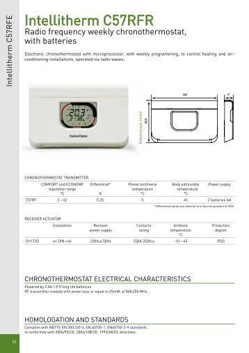 Intellitherm c51a c53a fantini cosmi for Fantini cosmi intellitherm c31
