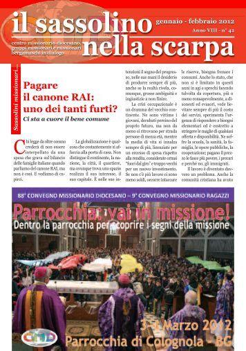 Gennaio - Centro Missionario Diocesano di Bergamo