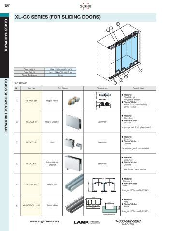 XL-GC SERIES (fOR SLIDING DOORS) - Sugatsune