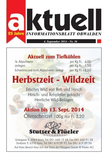 Aktuell Obwalden 36-2014