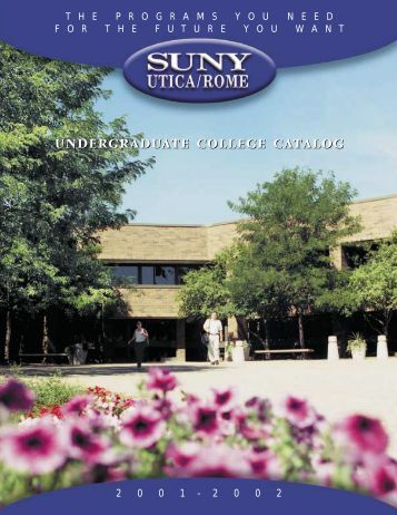 undergraduate college catalog - SUNY Institute of Technology