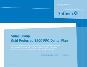 Anthem ca smartsense full rx 1500 medicoverage for Preferred plans