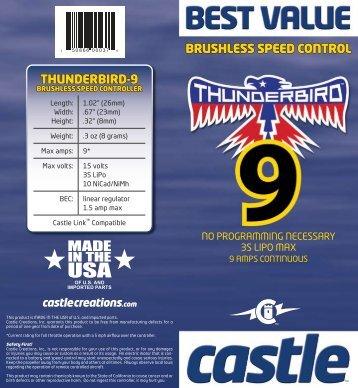 Thunderbird-9-user-guide - Esprit Model