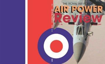 Volume 6 No 4 - Royal Air Force Centre for Air Power Studies