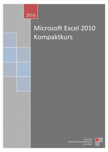 Excel 2010 Kompaktkurs.pdf - Swantec